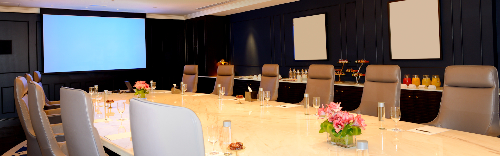 The meeting room interior at luxury hotel, Ras Al Khaimah, UAE